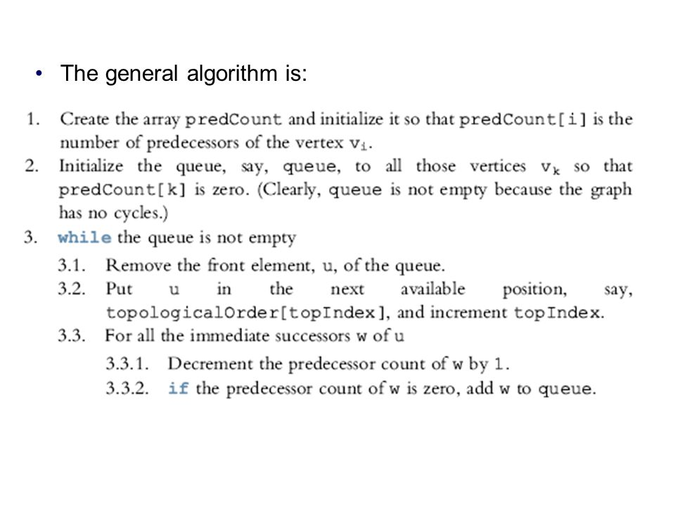 The general algorithm is: