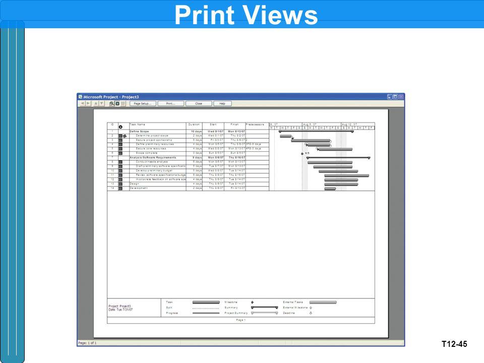 T12-45 Print Views
