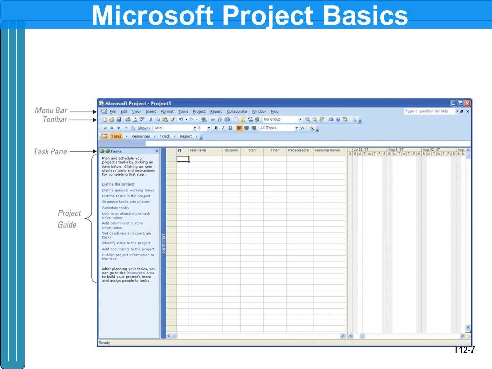 T12-7 Microsoft Project Basics