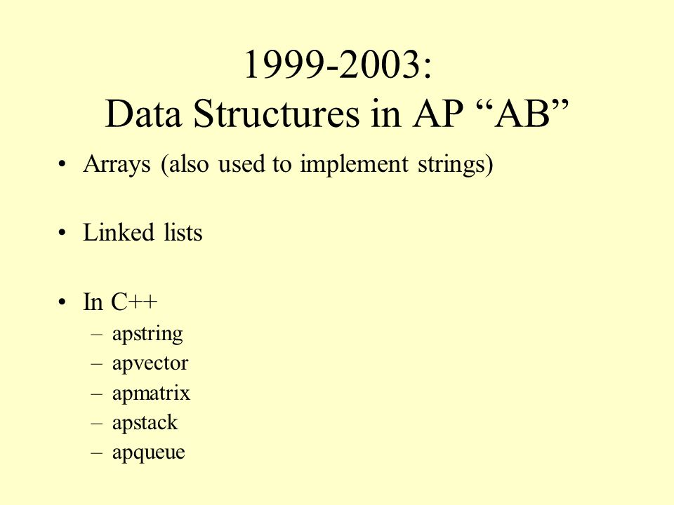 2004: Collections In Java, data structures are collections A collection is an object that contains other objects There are zero or more objects in a collection There are operations for accessing these objects