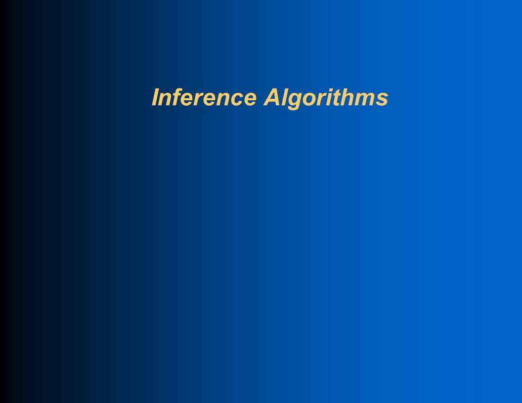 Inference Algorithms