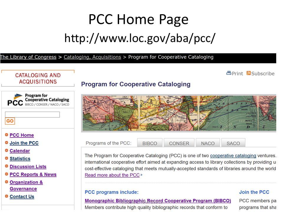 PCC Home Page http://www.loc.gov/aba/pcc/ Module 1. NAR Basics