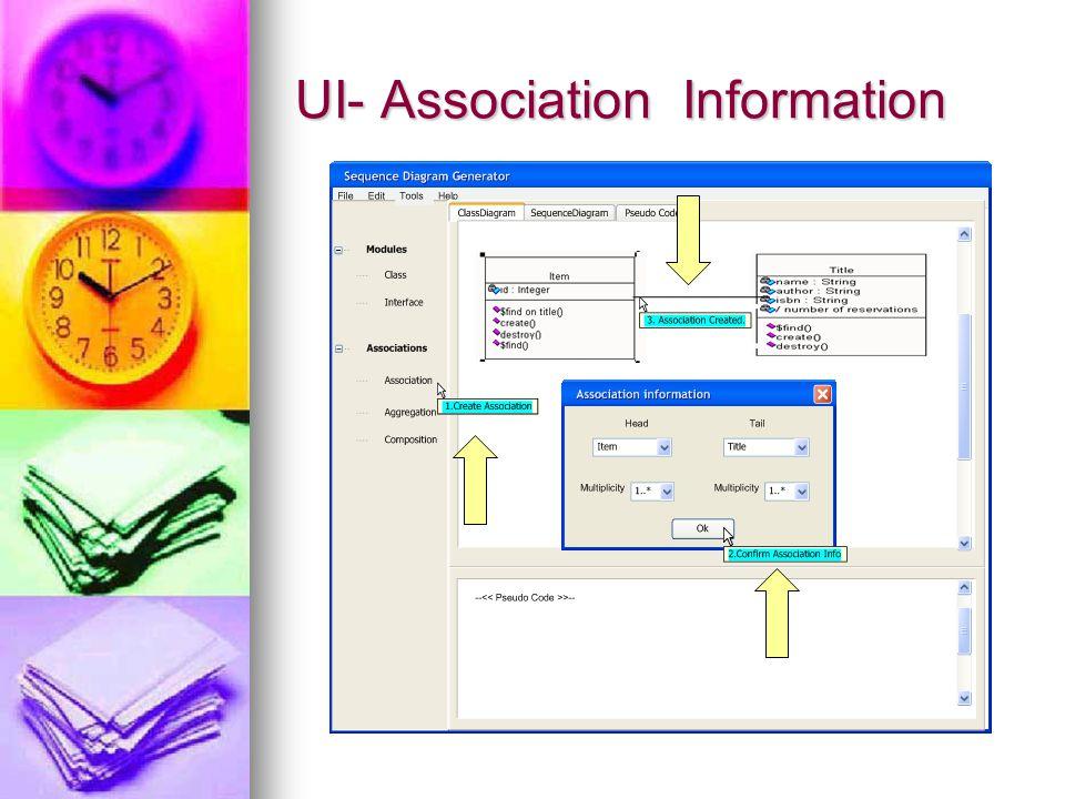 UI- Association Information