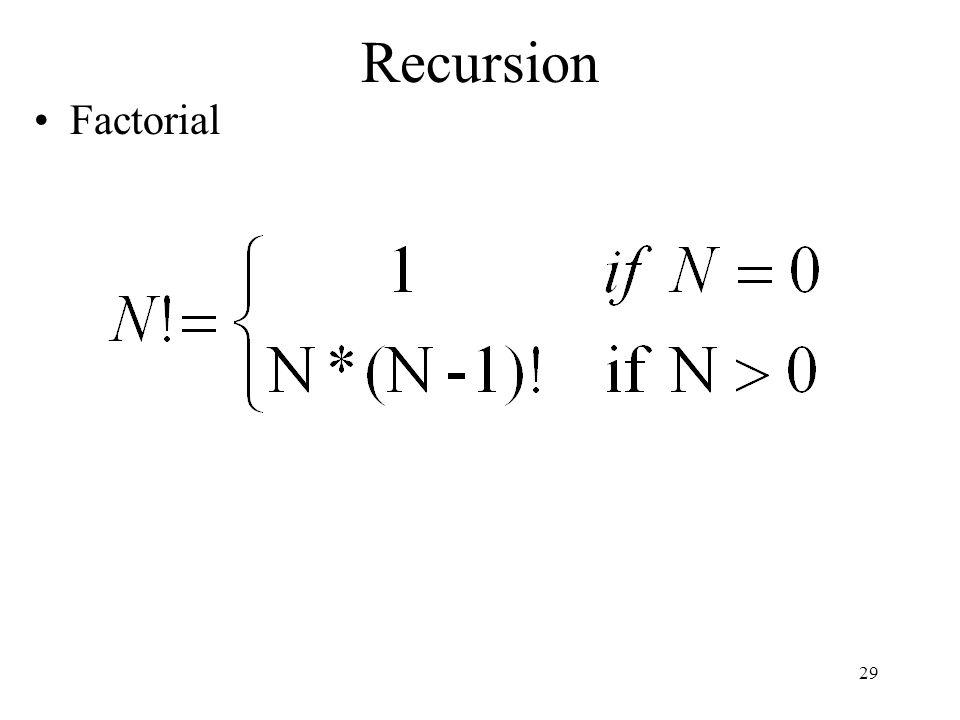 Recursion Factorial 29