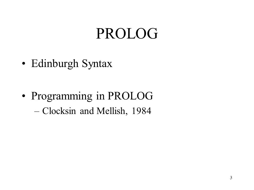 PROLOG EXAMPLES 4