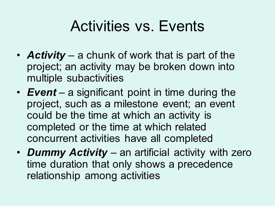 Activities vs.