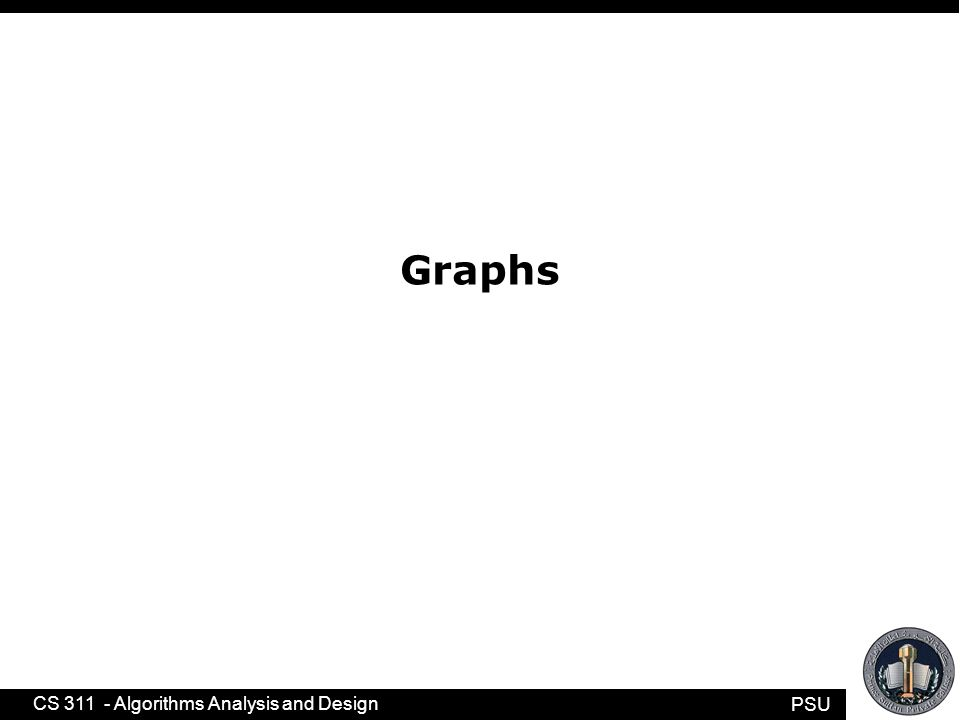 PSU CS 311 - Algorithms Analysis and Design A graph H = (W, F) is a subgraph of a graph G = (V, E) if W ⊆ V and F ⊆ E.