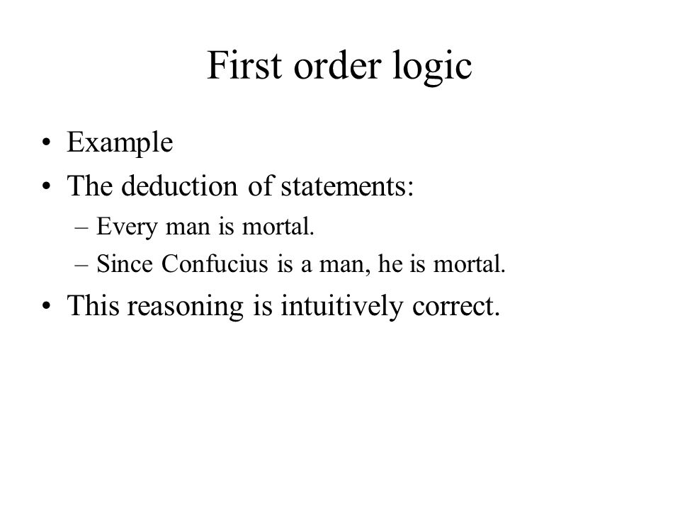 First order logic An outline of the transforming procedure (cont.) –Step 3 - Rename bound variables if necessary.