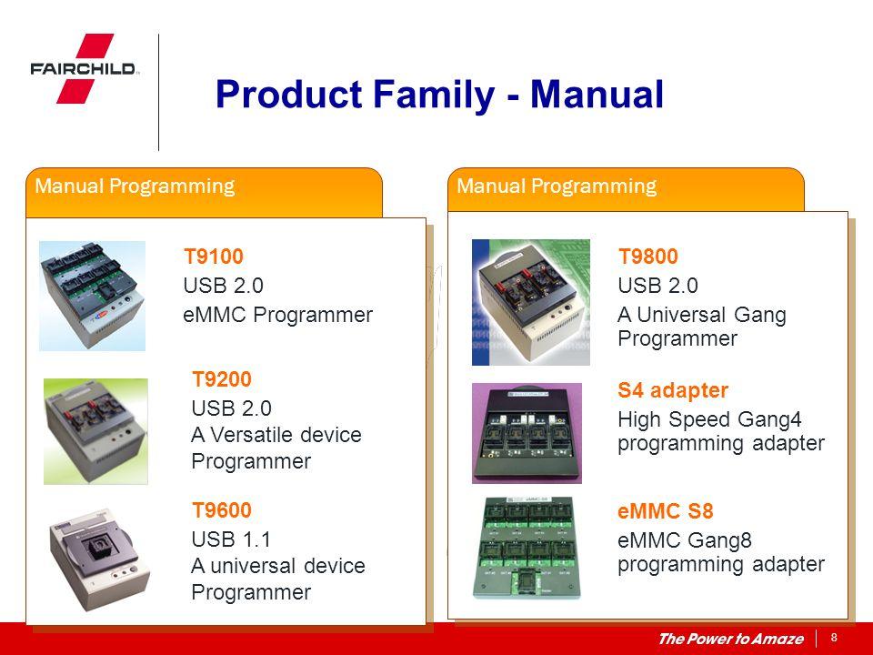 9 H/T9800H/T9600T9200T9100 NOR/NAND supportvvv MPC/MCP supportvvv SPI/EEPROM supportvvv FPGA/CPLD supportv S4 adapter supportv v eMMC S8 supportv v v Default RAM(bit)8Gb512Mb8Gb SG Manual Programmer