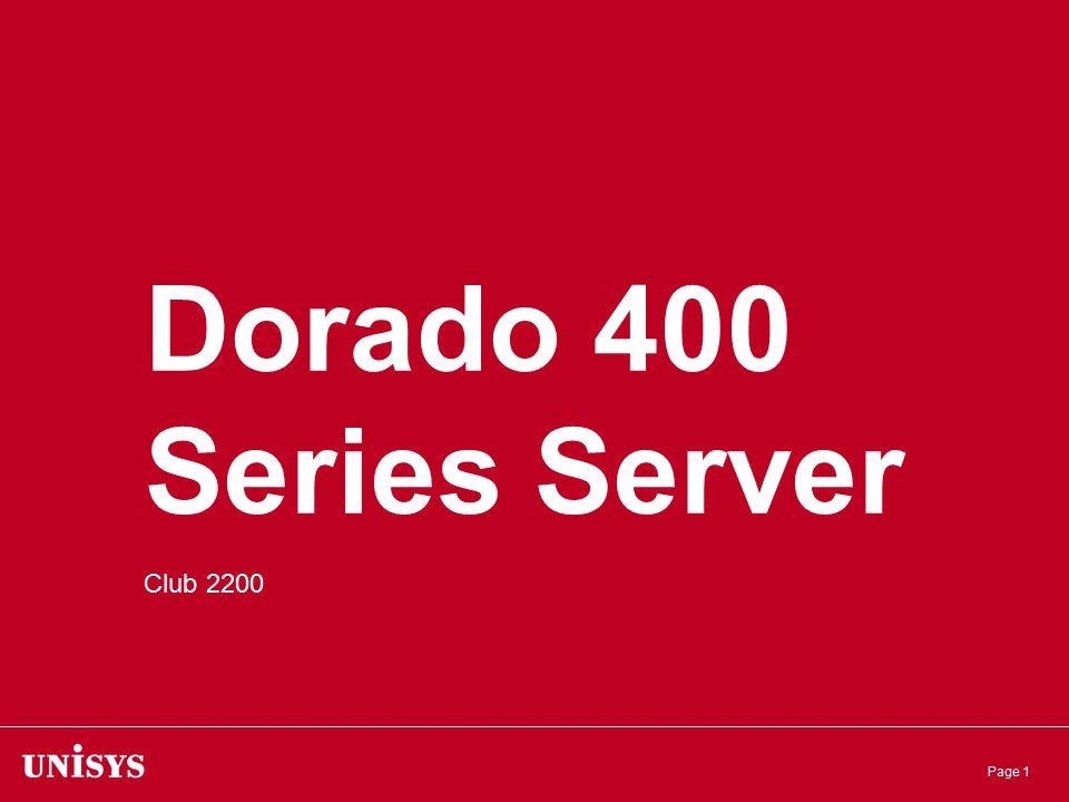 Page 1 Dorado 400 Series Server Club 2200
