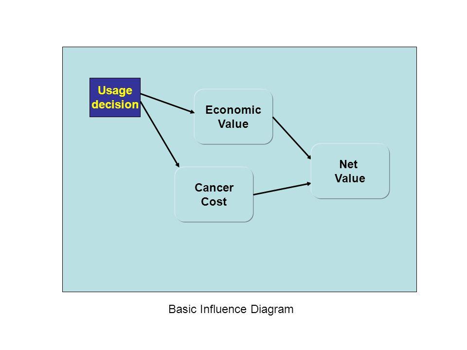 Economic Value Usage decision Cancer Cost Basic Influence Diagram Net Value