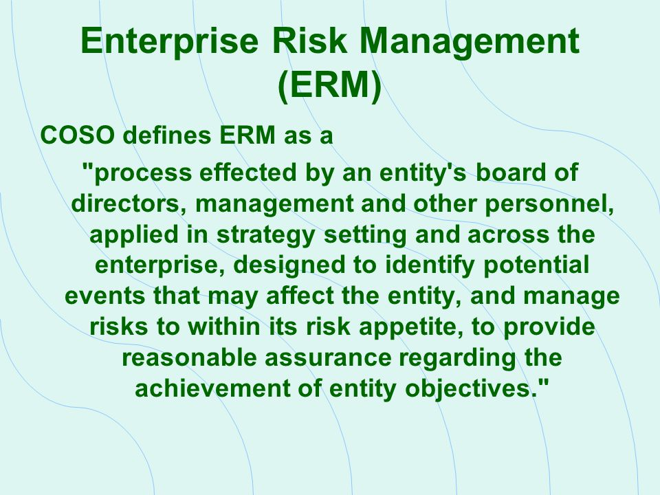 Understanding Management s Risk Management Process To understand the client s risk management process, auditors will normally use the following techniques:  Understand the processes used to evaluate risks  Review the risk-based approach used by internal auditing  Interview management about their risk approach  Review regulatory agency reports that address company s policies towards risk  Review company polices and procedures for addressing risk  Review company compensation policies to see if they are consistent with company s risk policies