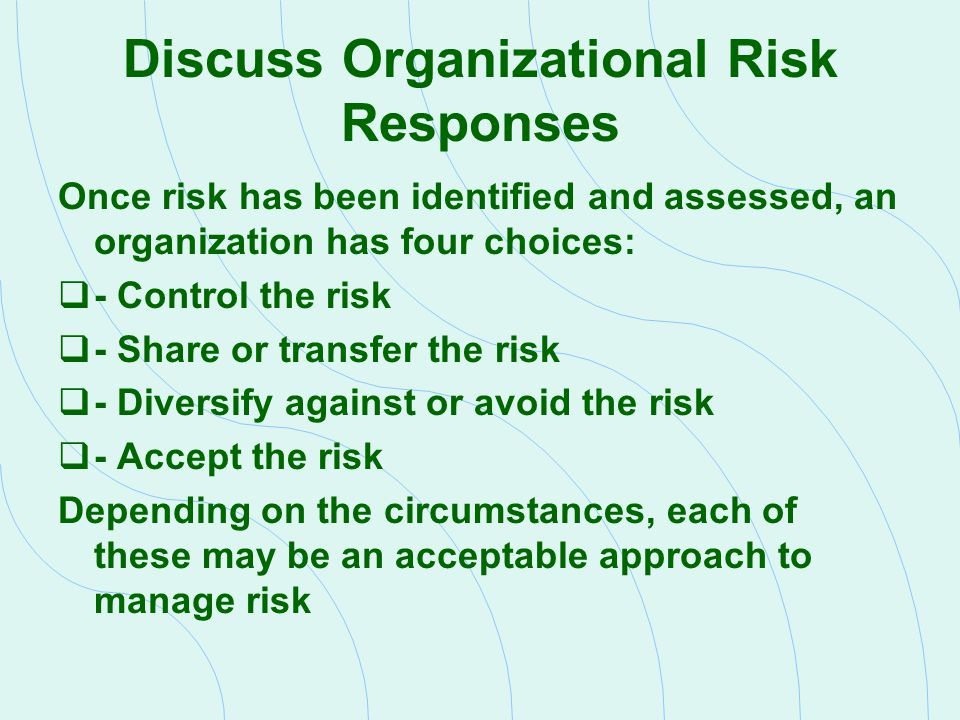 Review Risk Factors Affecting the Audit Engagement Risk  Risk auditors incur by being associated with a particular client  Risk is high whenever there is increased likelihood that  Auditor is associated with a failed client  Financial statements contain material misstatement that the auditor fails to find  These conditions increase the likelihood that the auditor will be sued Client Acceptance or Retention Decision  Perhaps the most important audit decision  A number of factors affect this decision, but most important involve  Quality of the client s corporate governance  Client s financial health