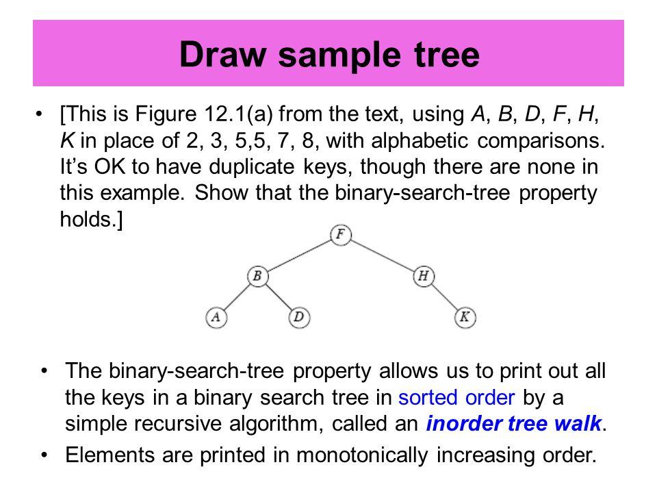 Assuming that all keys are distinct, the successor of a node x is the node y such that key[y] is the smallest key > key[x].