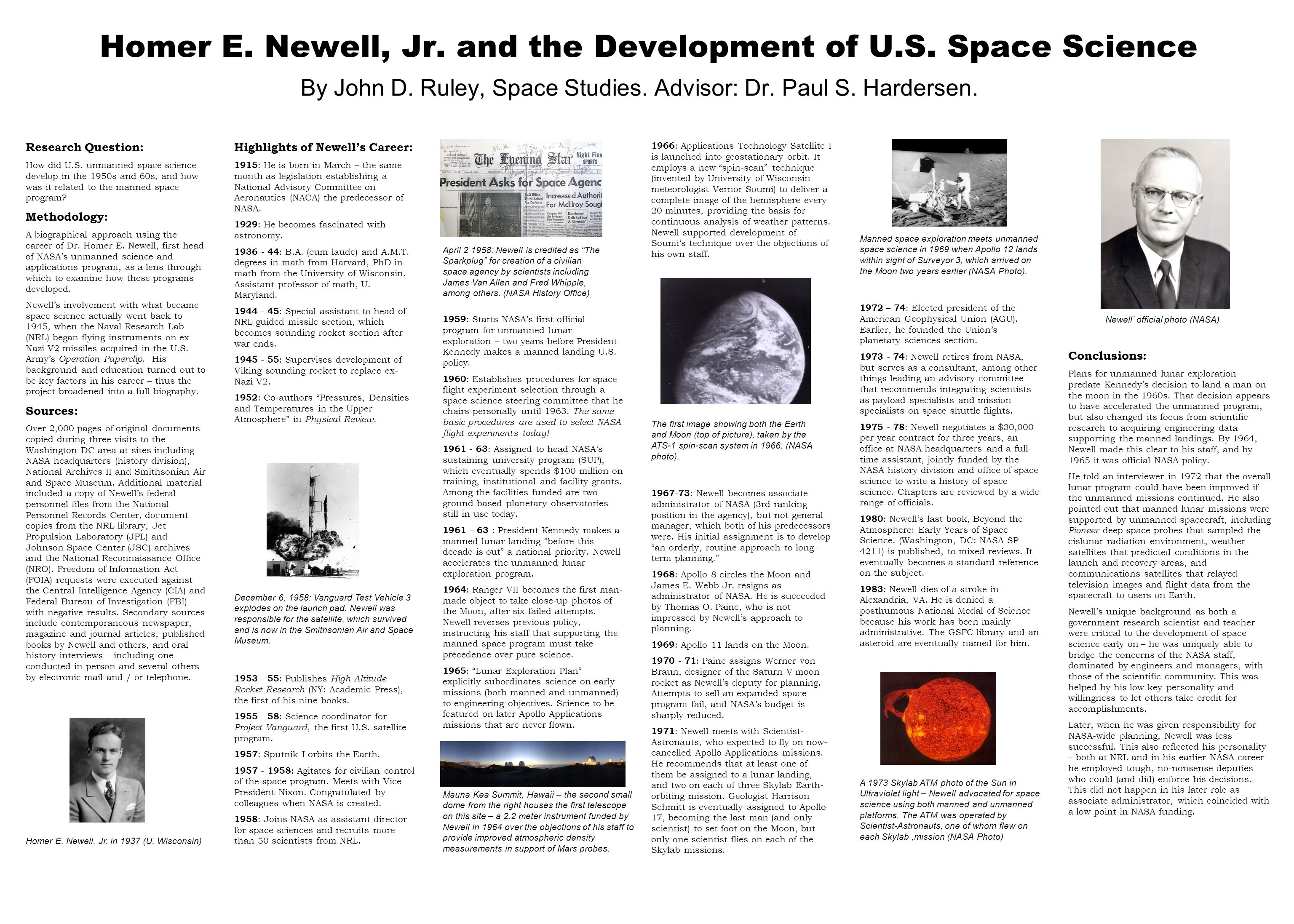 Homer E. Newell, Jr. and the Development of U.S.