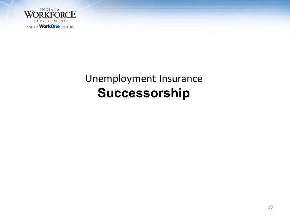 Unemployment Insurance Successorship 10
