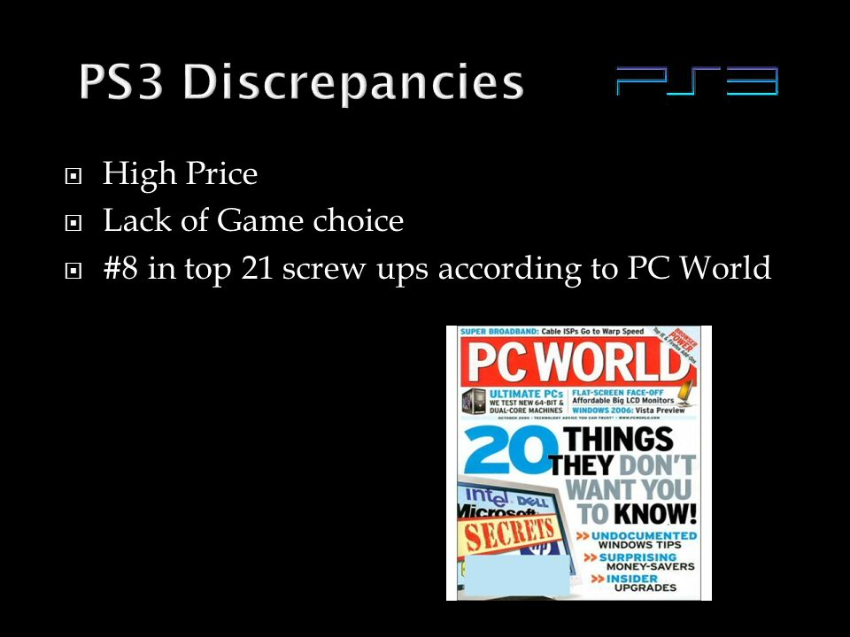  High Price  Lack of Game choice  #8 in top 21 screw ups according to PC World
