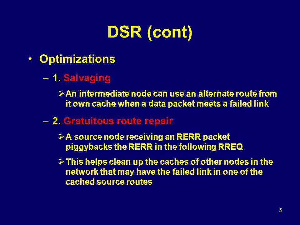 6 DSR (cont) –3.