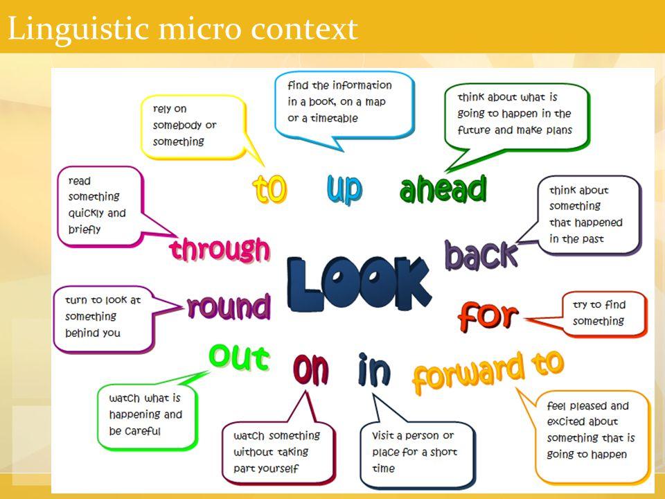 Linguistic micro context