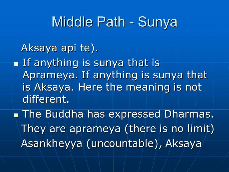 Middle Path - Sunya Aksaya api te). Aksaya api te).