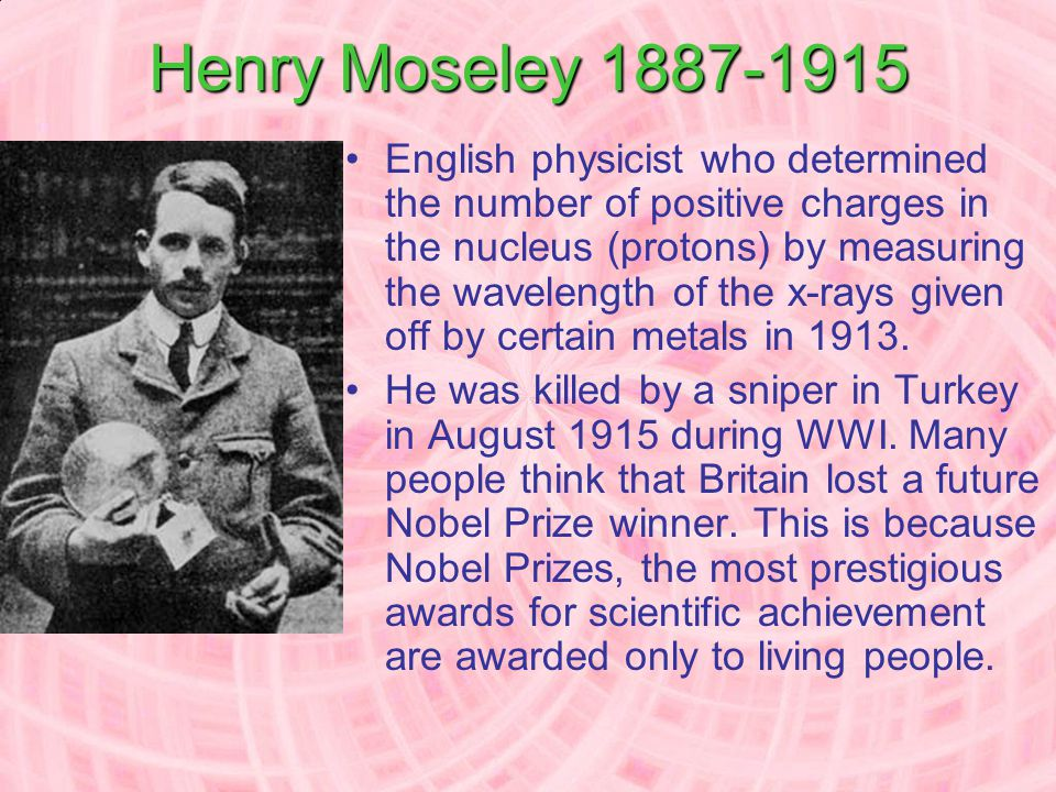 Problems with Mendeleev's Table Moseley helped to clarify some of the problems… Why didn't some elements fit in order of increasing atomic mass? Why d