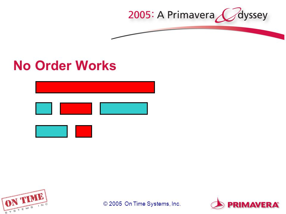 © 2005 On Time Systems, Inc. No Order Works