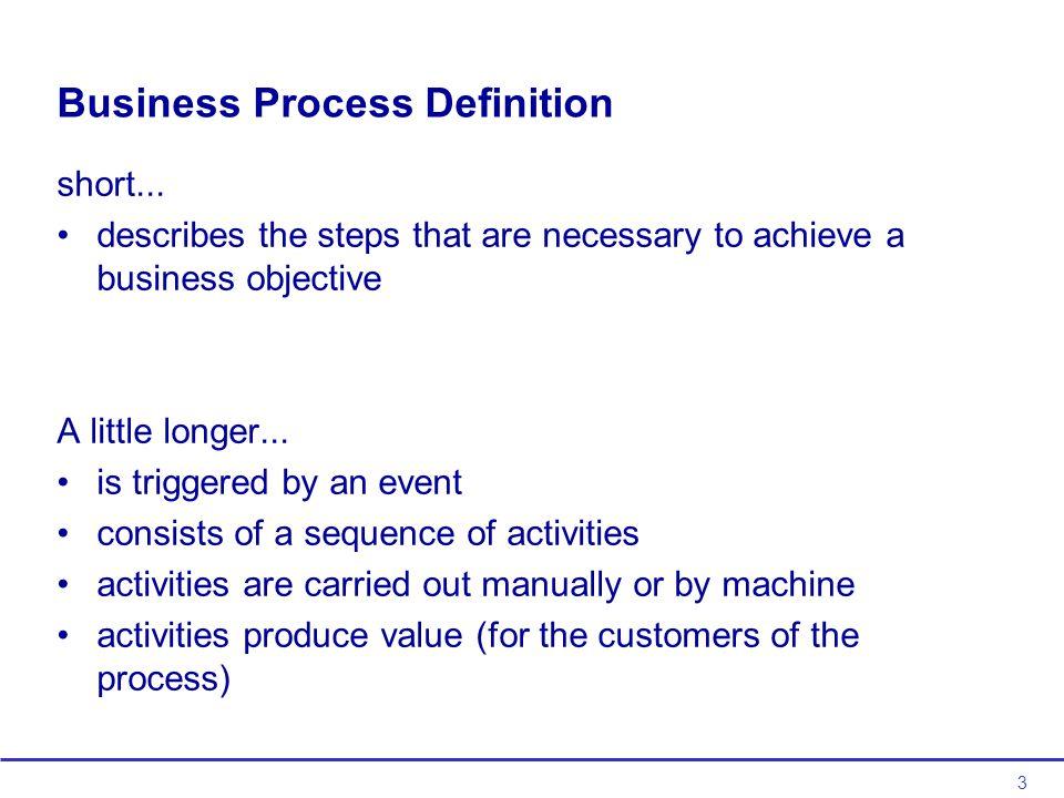 3 Business Process Definition short...