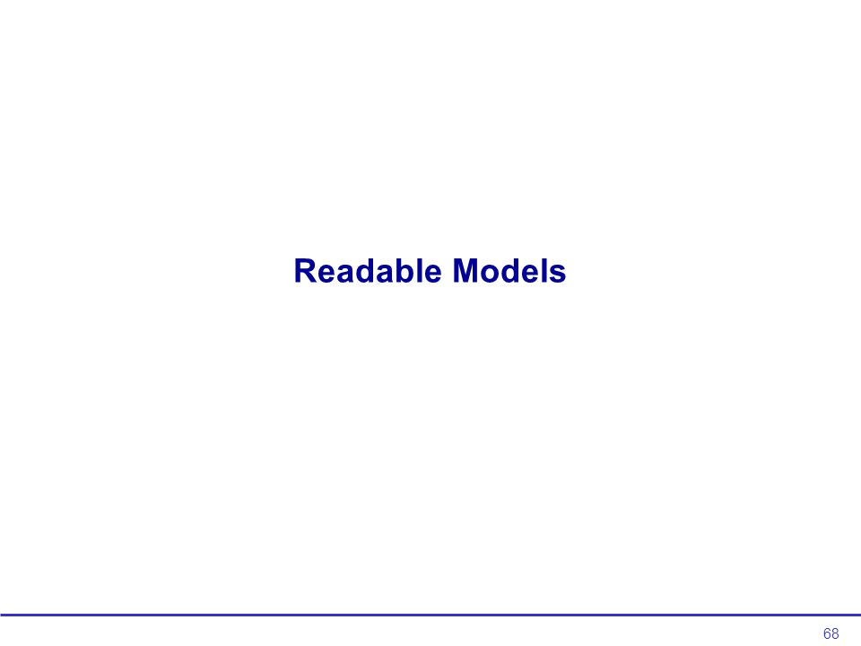 68 Readable Models