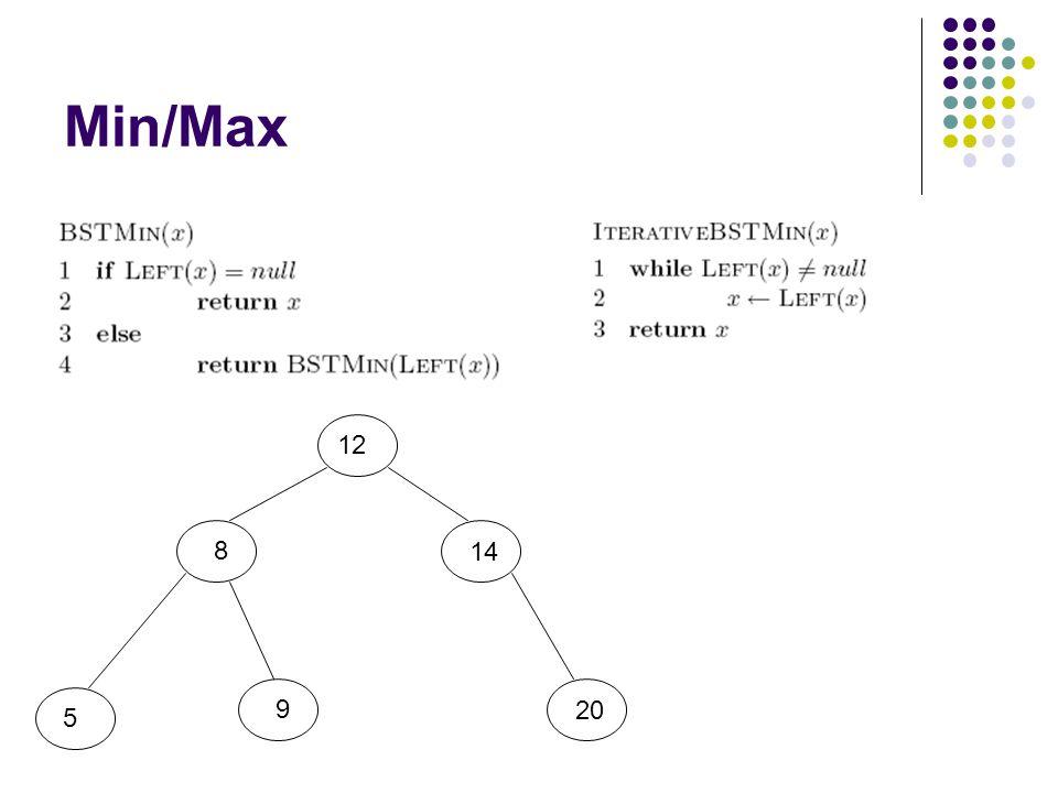 Min/Max 12 8 5 9 20 14