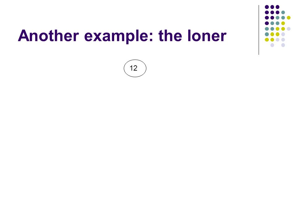 Another example: the loner 12
