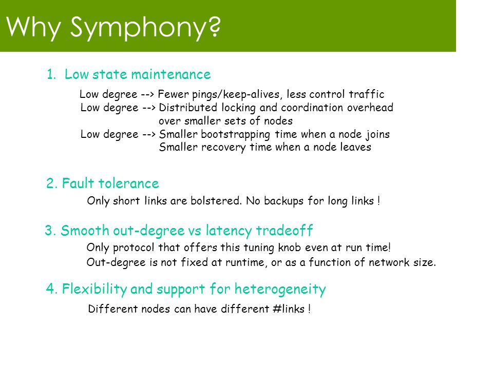 Why Symphony. 1.