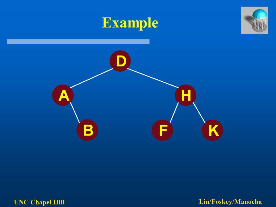 UNC Chapel Hill Lin/Foskey/Manocha Example D AH B FK