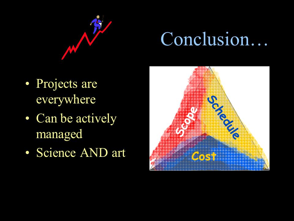 Conclusion… Projects are everywhere Can be actively managed Science AND art