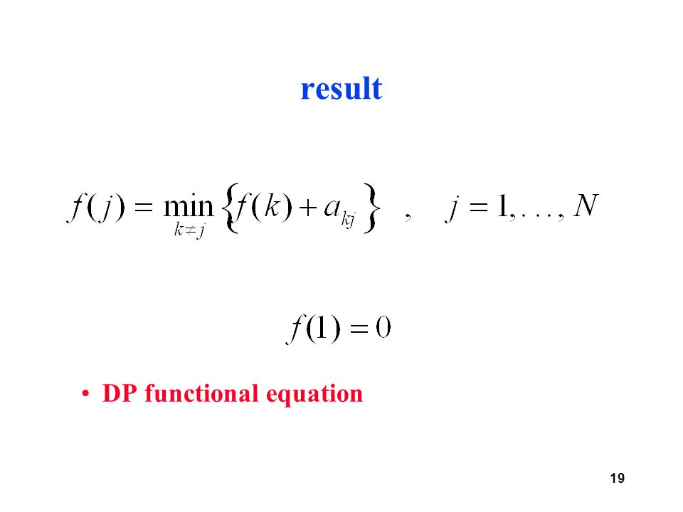 19 result DP functional equation