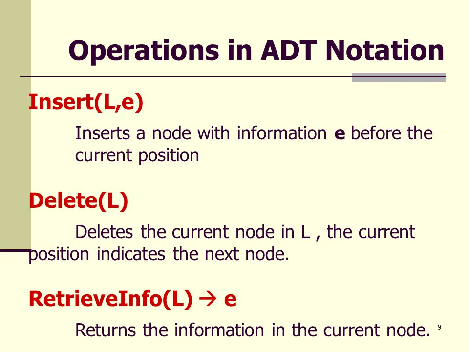 10 Insertion and Deletion A.