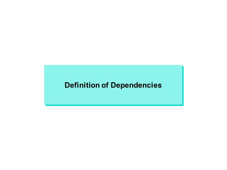 Definition of Dependencies