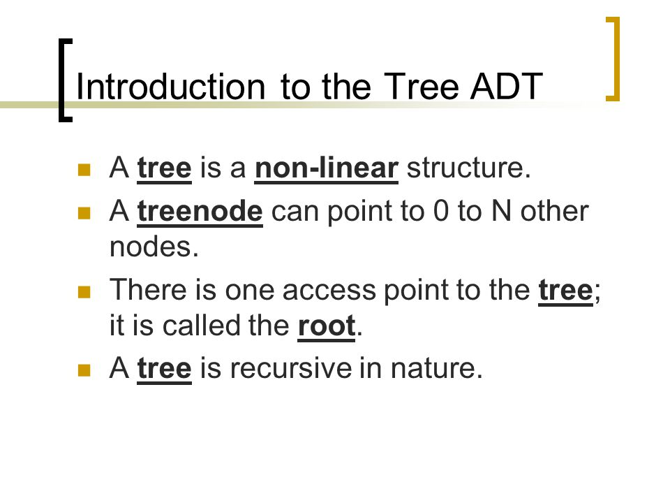Defining a Binary Tree Linked class Tree { public: Tree(); ~Tree(); bool Empty(); bool Insert(TreeType); bool Delete(TreeType); void Traverse(); private: void InOrder(TreePtr); TreePtr Root; };
