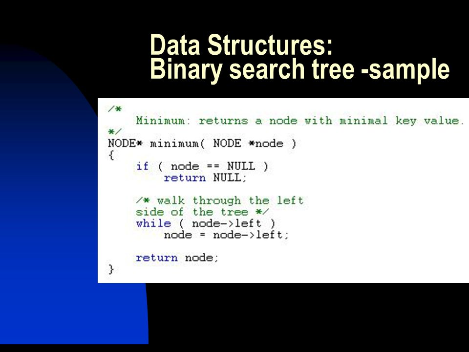 Data Structures: Binary search tree -sample
