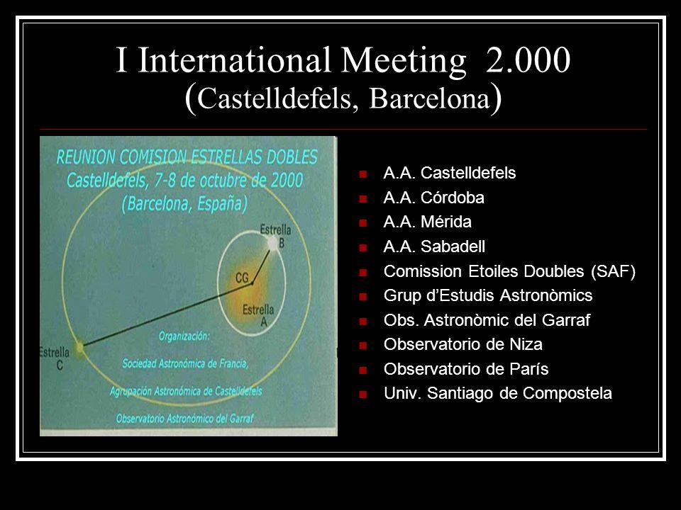 I International Meeting 2.000 ( Castelldefels, Barcelona ) A.A.