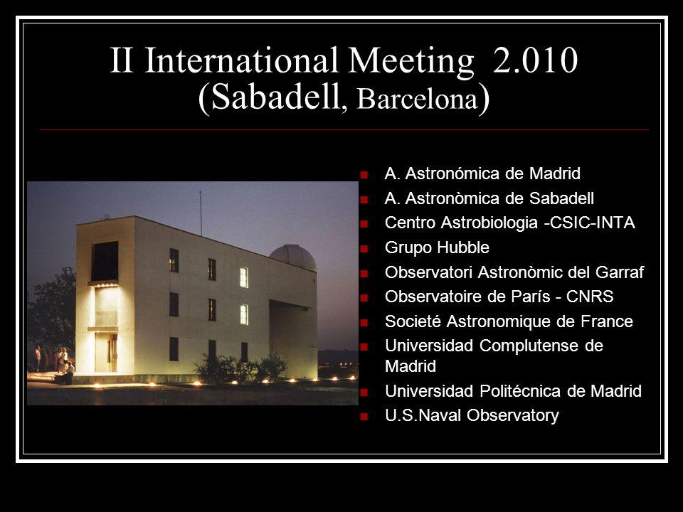 II International Meeting 2.010 (Sabadell, Barcelona ) A.