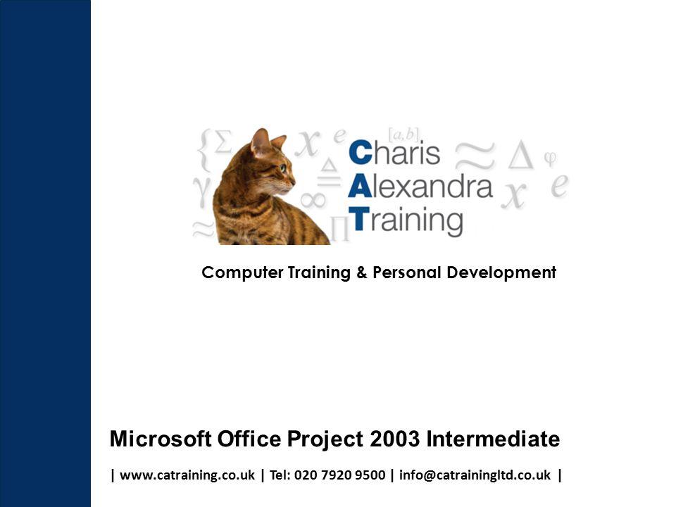   www.catraining.co.uk   Tel: 020 7920 9500   info@catrainingltd.co.uk   Computer Training & Personal Development Microsoft Office Project 2003 Intermediate