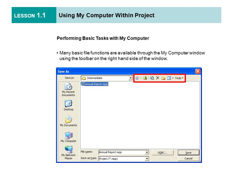 LESSON 2.3 Resources and Tasks Removing or Replacing a Resource Use the Assign Resources dialog box to remove a resource from the task or to replace it with another resource.