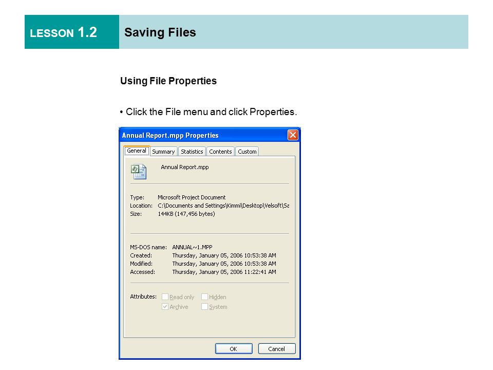 LESSON 1.2 Saving Files Using Auto Save AutoSave can recover your project if your computer crashes.