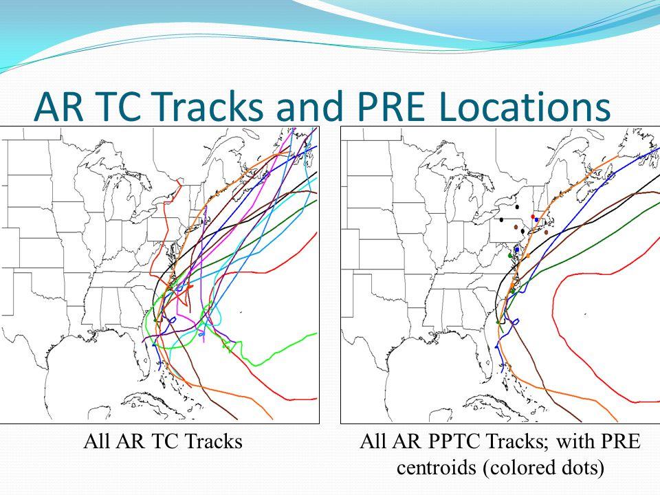 Parcel Trajectories into the Mid- Atlantic Coastal Region Danny's Track
