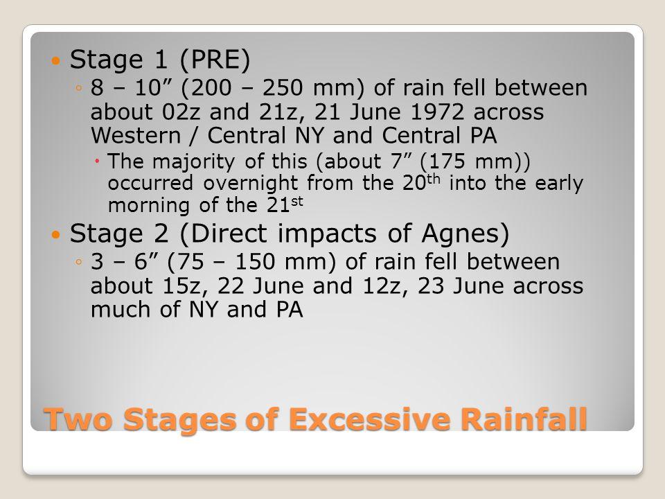 Rainfall at Wellsville, NY (KELZ) KELZ PRE Agnes