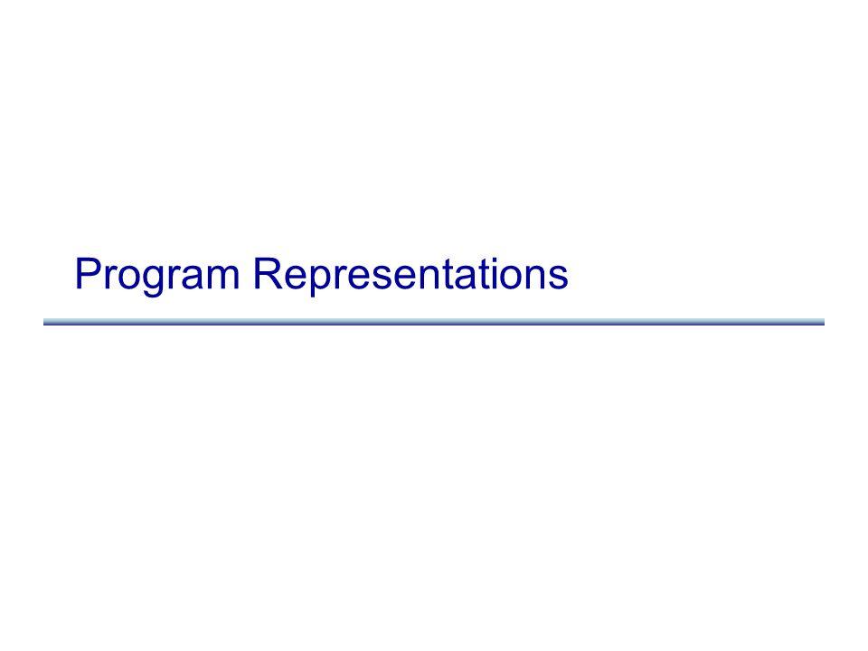 Program Representations