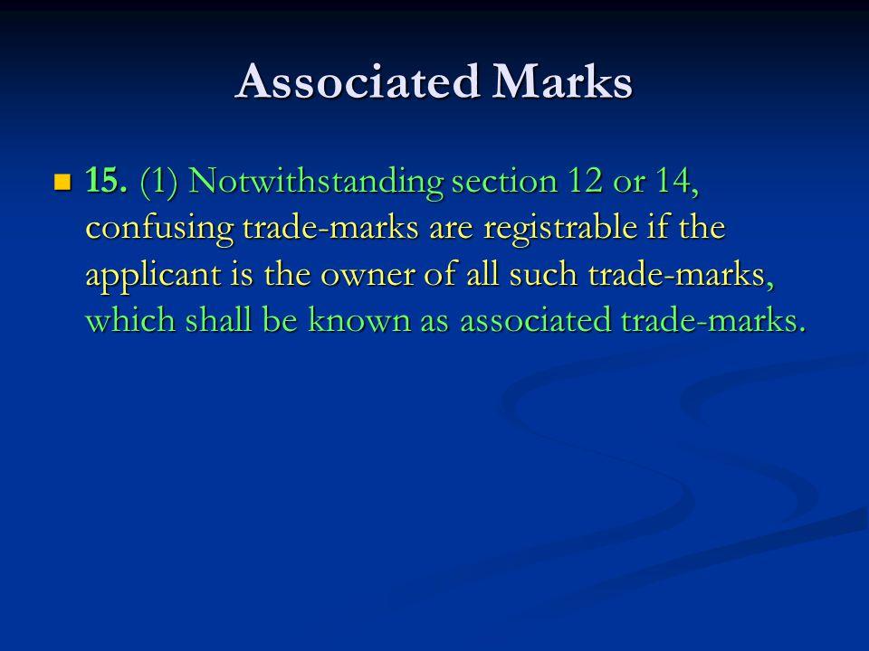 Associated Marks 15.