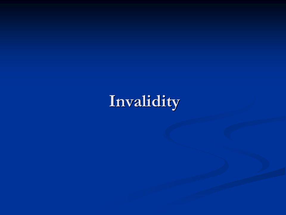 Invalidity
