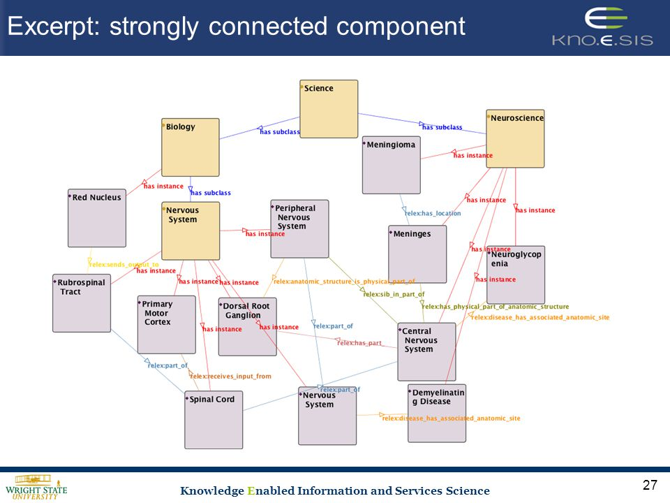 Knowledge Enabled Information and Services Science Excerpt: strongly connected component 27