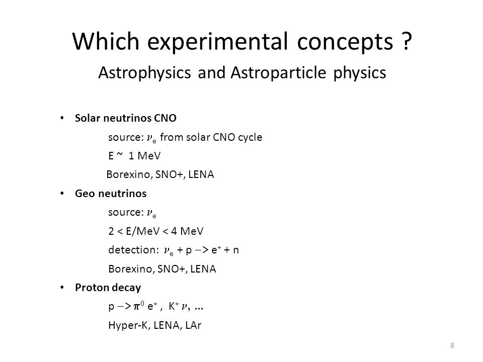 Which experimental concepts .